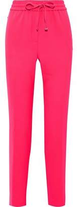 Donna Karan Neon Stretch-crepe Track Pants
