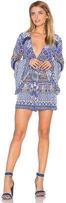 Camilla Front Tie Waist Romper in Blue $500 thestylecure.com