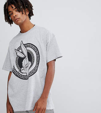 Reclaimed Vintage x looney tunes oversized t-shirt in gray