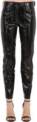 N°21 Skinny Silk & Vinyl Pants