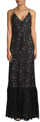 Lanvin Lace Floor-Length Gown