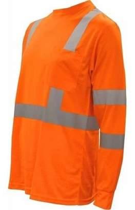 CORDOVA SAFETY PRODUCTS Cor-Brite Hi-Vis Lime Long Sleeve Shirt
