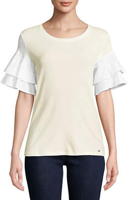 Tommy Hilfiger Tiered Bell-Sleeve Cotton Top