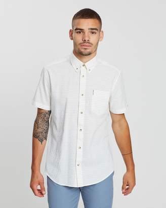 Ben Sherman Short Sleeve Raised Texture Shirt