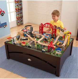 Kid Kraft Metropolis Train Set & Table Combo
