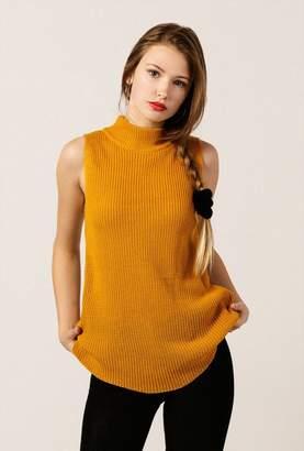 Azalea Mock Rib SS Sweater Top