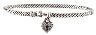 David Yurman Petite Pavé Cable Collectibles Heart Lock Bracelet silver Petite Pavé Cable Collectibles Heart Lock Bracelet