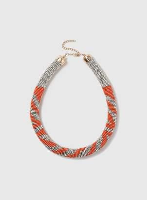 Orange Mini Bead Necklace