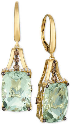 LeVian Le Vian Mint Julep Quartz (12-3/8 ct. t.w.) & Diamond (3/8 ct. t.w.) Drop Earrings in 14k Gold