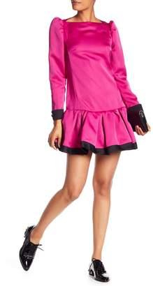 Marc Jacobs Ruffle Hem Satin Dress
