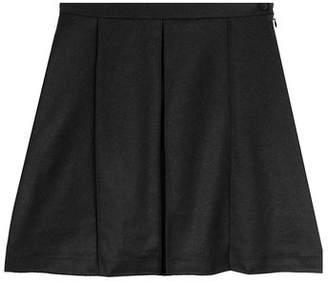 Julien David Flared Wool Skirt