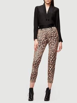 Frame Cheetah Tux Velvet Pant