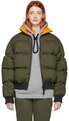 Nike Reversible Khaki and Orange Down NRG Puffer Jacket