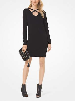 Michael Kors Cotton And Viscose Cutout Sweatshirt Dress