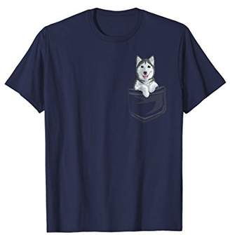 Cute Siberian Husky In your Pocket T-Shirt Puppy Gift Shirt