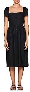 Barneys New York Women's Cotton Poplin Midi-Dress - Black