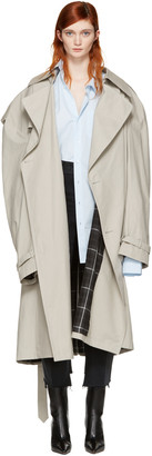 Vetements Grey Mackintosh Edition Oversized Trench Coat $4,210 thestylecure.com