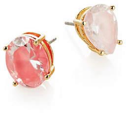 Kate Spade Crystal Asymmetric Stud Earrings