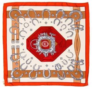 Hermes Porte Bonheur Silk Pocket Square w/ Tags