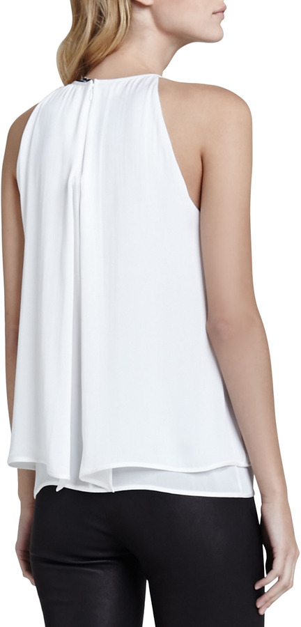 Theory Lyalka Layered Georgette Blouse