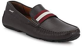 Bally Men's Pearce Pebbled Leather Driving Loafers