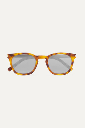 Saint Laurent Cat-eye Tortoiseshell Acetate Mirrored Sunglasses