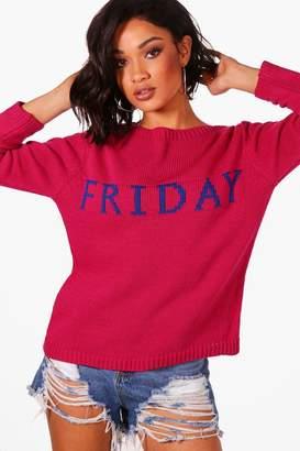boohoo Amy Friday Jumper
