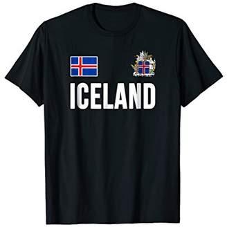 Iceland T-shirt Icelandic Flag Soccer Hockey Fan Jersey