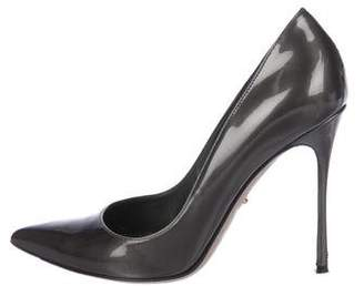Sergio Rossi Patent Leather Pointed-Toe Pumps