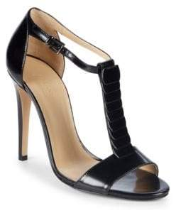 Armani Collezioni T-Strap Leather Sandals