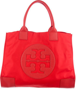 Tory Burch Tory Burch Leather-Trimmed Ella Tote