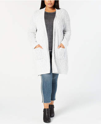 Style&Co. Style & Co Plus Size Chenille Long Cardigan Sweater