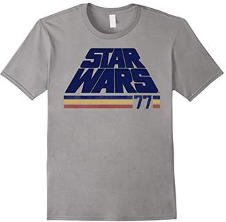 Star Wars Classic Retro Slanted Logo Striped '77 T-Shirt
