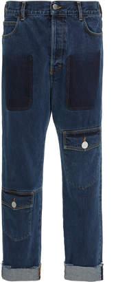J.W.Anderson Distressed Straight-Leg Jeans