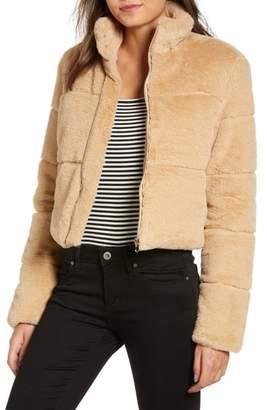 TIGER MIST Bridget Faux Fur Puffer Jacket