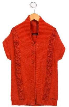 Catimini Girls' Sleeveless Button-Up Cardigan
