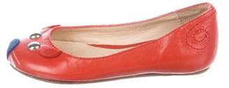 Little Marc Jacobs Girls' Leather Ballet Flats