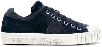 Philippe Model velvet low top sneakers