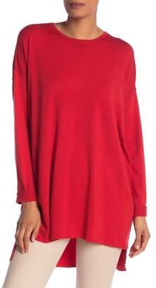 34c5cddbd3 Eileen Fisher Long Sleeve Step Hem Sweater