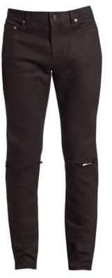 Saint Laurent Ripped Knee Skinny-Fit Jeans
