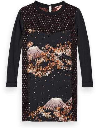 Scotch & Soda Mixed Print Woven Jersey Dress