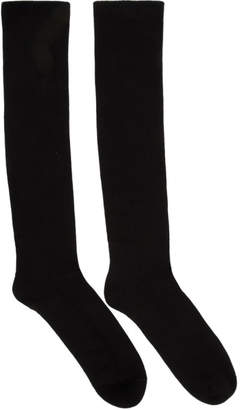 Rick Owens Black Mid Calf Socks