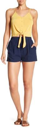 Honeybelle Honey Belle Pleated Detail High Waist Shorts