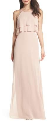 Jenny Yoo Charlie Ruffle Chiffon Gown