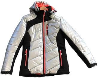 Peak Performance Silver Polyamide Leather Jacket for Women