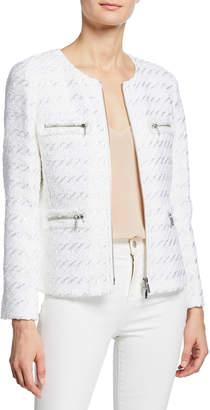 Lafayette 148 New York Emelyn Multi-Zipper Tweed Jacket