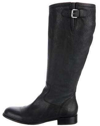 Free Lance Freelance Leather Round-Toe Knee Boots