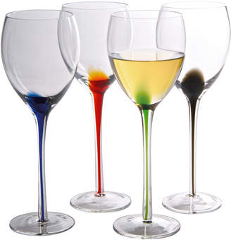 Artland Splash Set Of Four 11Oz Wine Glasses