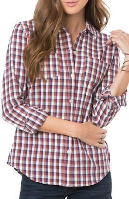 O'Neill 'Freestyle' Plaid Button Front Top $49.50 thestylecure.com