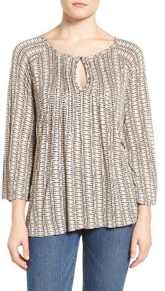 Women's Lucky Brand Geometric Print Top $49.50 thestylecure.com